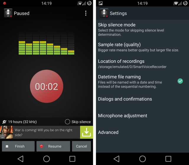 surround voices on android